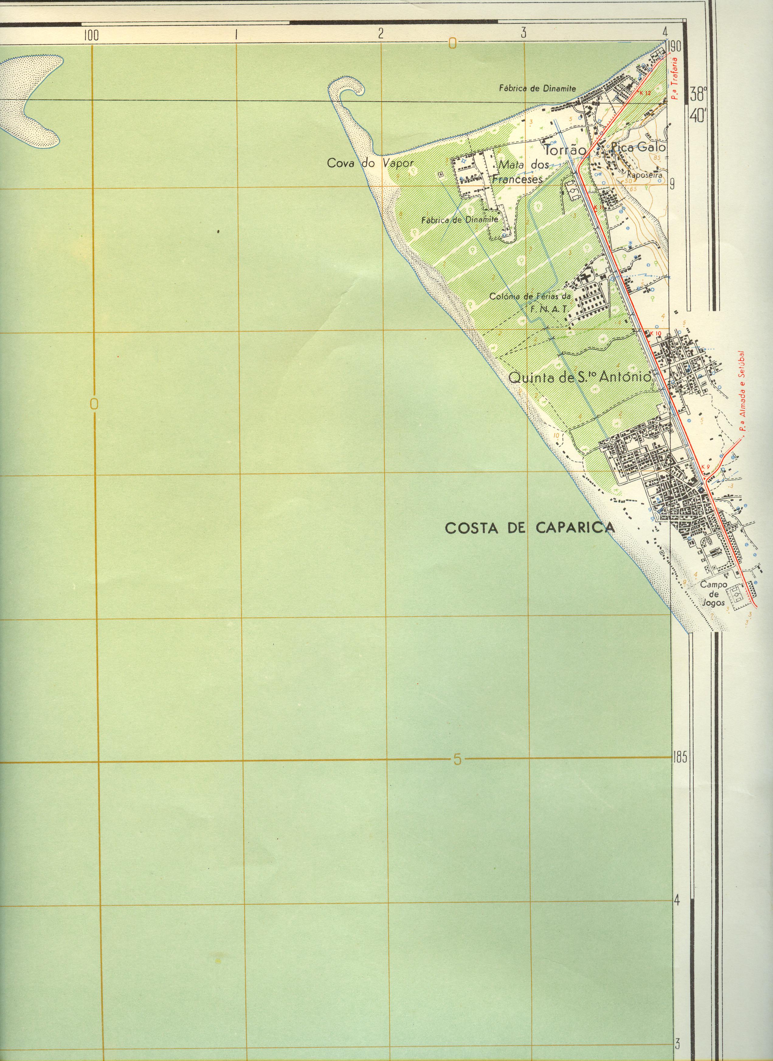 Fronteiras Urbanas Mapas Costa De Caparica